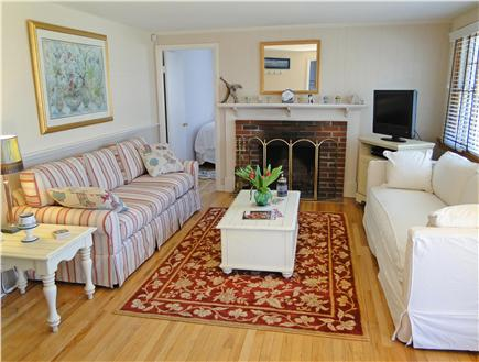 South Yarmouth/Bass River Cape Cod vacation rental - Beautiful bright living room with new furniture and fireplace