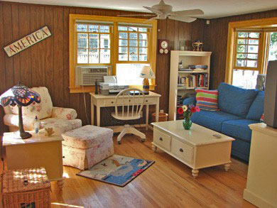 South Yarmouth/Bass River Cape Cod vacation rental - Sunny den with television, plenty of space and bay window