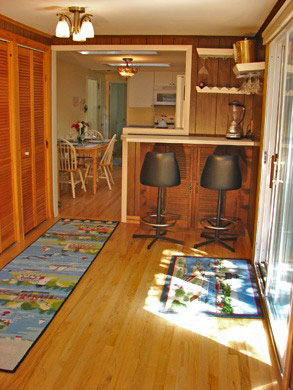 South Yarmouth/Bass River Cape Cod vacation rental - Bar area with sliders to deck and adjacent to kitchen