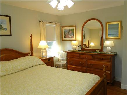 West Harwich Cape Cod vacation rental - Main floor queen bedroom with flatscreen TV