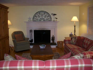 Chatham Cape Cod vacation rental - Living room with working fireplace