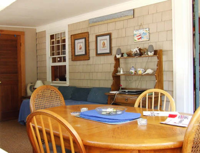 Eastham Cape Cod vacation rental - Bright and cheery dining and lounging area on porch