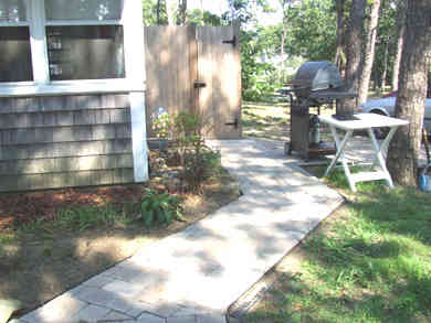 Eastham Cape Cod vacation rental - Outside the porch with conveniently located shower and gas grill