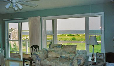 Wareham MA vacation rental - Ocean view from living room