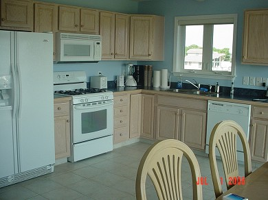 Wareham MA vacation rental - Fully equipped contemporary kitchen with flat screen tv