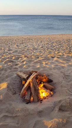Eastham Cape Cod vacation rental - Beach campfire