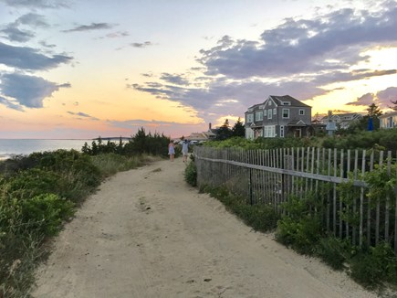 Wellfleet Cape Cod vacation rental - Walk down our little dirt road to enjoy nightly sunsets.
