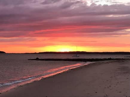 Wellfleet Cape Cod vacation rental - Sunset over our private beach