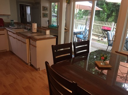 Eastham Cape Cod vacation rental - Slider leading to back deck for easy BBQing!