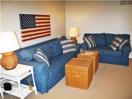 New Seabury, Mashpee New Seabury vacation rental - Cozy den with television and expansive views of salt-water marsh