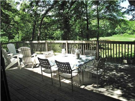 New Seabury, Mashpee New Seabury vacation rental - Relaxing deck views with BBQ, dining area and sitting area