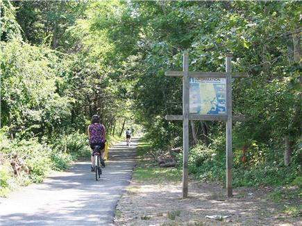 Eastham Cape Cod vacation rental - Cape Cod Rail Trail bike path- only one block away