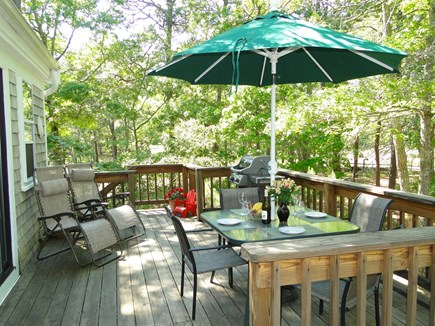 Eastham Cape Cod vacation rental - Peaceful deck great for reading, relaxing, and dining
