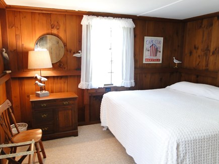 Eastham Cape Cod vacation rental - Knotty pine master bedroom with king size bed