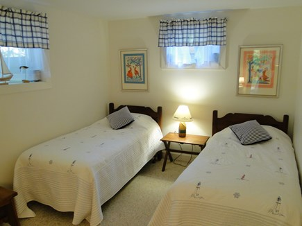 Eastham Cape Cod vacation rental - Lower level twin bedroom