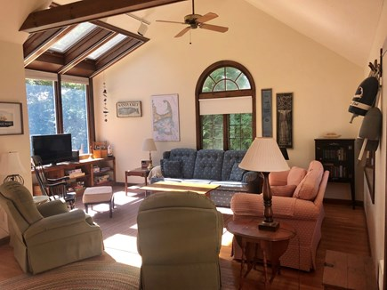 Dennisport Cape Cod vacation rental - Spacious Family Room with Skylights and Television/DVD Player