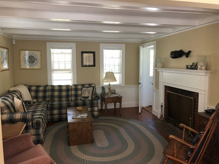 Dennisport Cape Cod vacation rental - Cozy Living Room off of the Dining Room