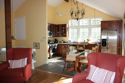 Wellfleet Cape Cod vacation rental - The 4th floor kitchen, adjacent to living room and outside deck.