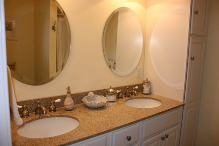 Wellfleet Cape Cod vacation rental - The master suite bathroom with shower.