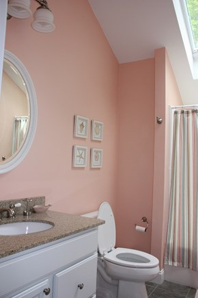 Wellfleet Cape Cod vacation rental - The 3rd floor bathroom with tub/shower.