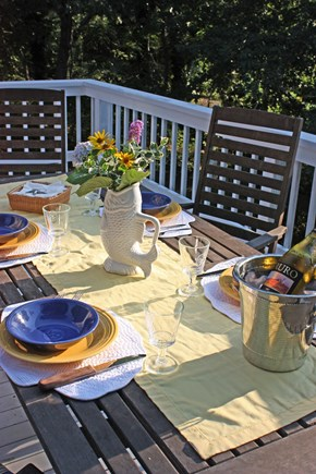 Wellfleet Cape Cod vacation rental - The deck off the 4th floor kitchen.