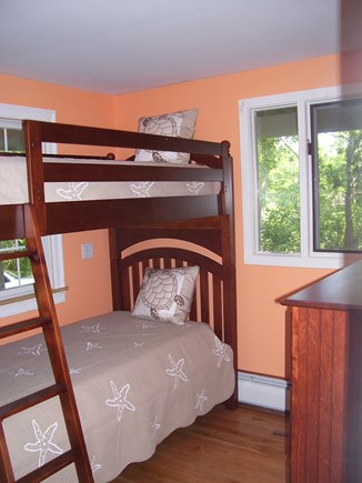Wellfleet Cape Cod vacation rental - The 2nd floor bedroom with twin bunk beds.