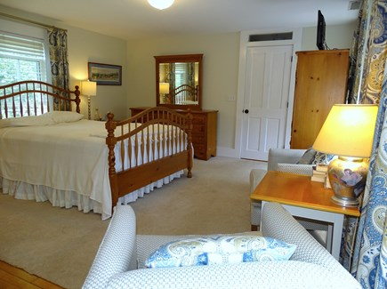Eastham Cape Cod vacation rental - Master showing seating area, TV