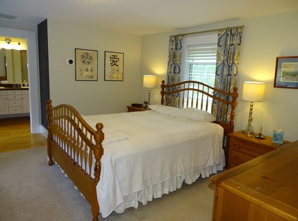 Eastham Cape Cod vacation rental - Separate stairway to Master, with TV and private bath