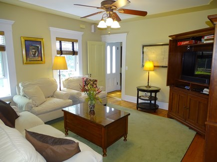 Eastham Cape Cod vacation rental - Sunny living room with television and comfortable furnishings