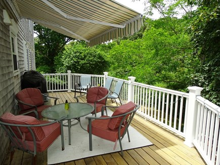 Eastham Cape Cod vacation rental - Deck with gazebo, dining and gas grill