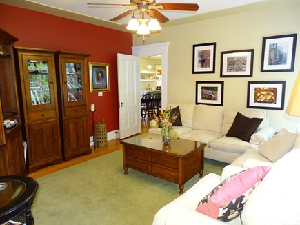 Eastham Cape Cod vacation rental - Living room opens to kitchen and dining