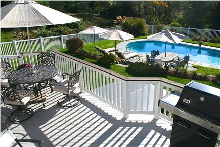 East Orleans Cape Cod vacation rental - Beautiful heated pool side - 3 chaise lounges & table area