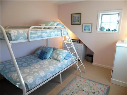 Barnstable Village Cape Cod vacation rental - 2nd bunk bedroom - double beds on bottom bunks, twin beds on top