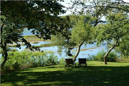 Truro Cape Cod vacation rental - Lawn sweeps down to the tidal Pamet River