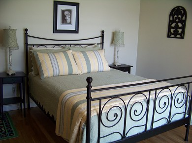 East Falmouth Cape Cod vacation rental - Queen Bedroom with Small Deck and View