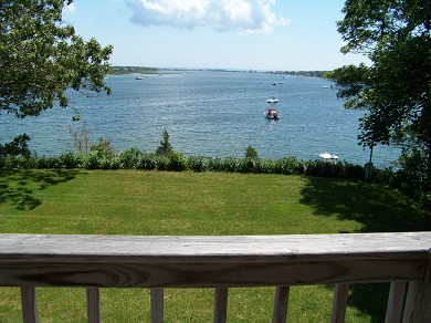 East Falmouth Cape Cod vacation rental - View from Bedroom Balcony