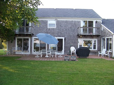 East Falmouth Cape Cod vacation rental - Backyard Patio with Weber Gas Grill