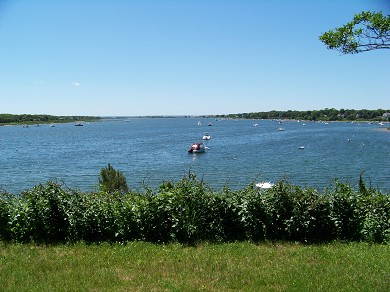 East Falmouth Cape Cod vacation rental - View from yard and patio