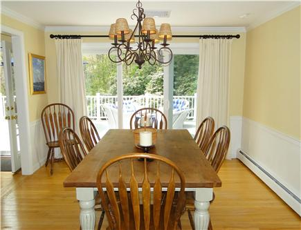 Osterville Osterville vacation rental - Sun-filled dining room, overlooks back deck
