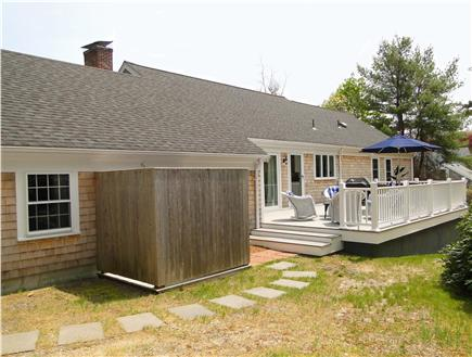 Osterville Osterville vacation rental - Back of house with huge outdoor shower