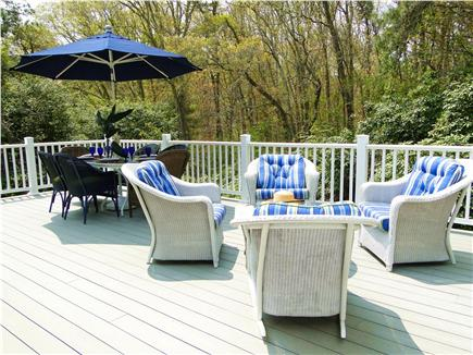Osterville Osterville vacation rental - Brand new deck with dining table and sitting area