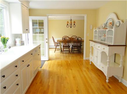 Osterville Osterville vacation rental - Dining room opens to kitchen, door to deck