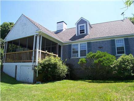 Brewster Cape Cod vacation rental - In-summer, the porch has screens and a safety rail