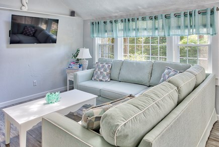 New Seabury, Mashpee, Poppy New Seabury vacation rental - 3BR: New Family Room with 50% Smart HDTV