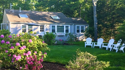 New Seabury, Mashpee, Poppy Cape Cod vacation rental - House #2, 3BR/2BA Front View with Large Yard & Gardens