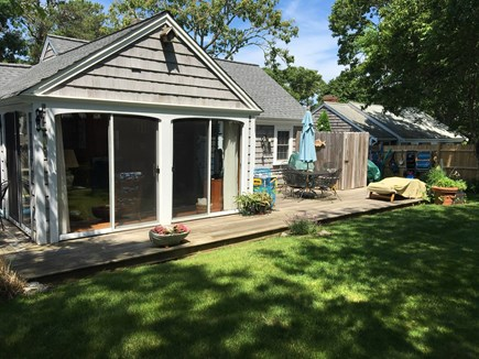 Dennis Port Cape Cod vacation rental - Fenced in Backyard with Outdoor Shower