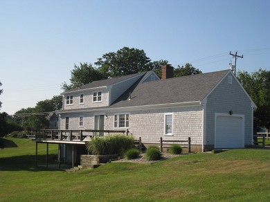 Dennis Cape Cod vacation rental - Rear view with Deck and lovely yard