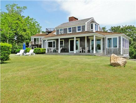 Chatham Cape Cod vacation rental - Panoramic views of Oyster Pond from deck and each room