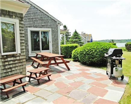 Chatham Cape Cod vacation rental - Grill out on the patio, overlooking yard and water