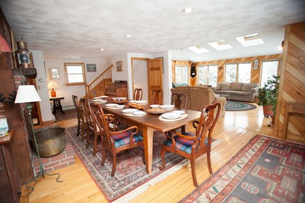 Chatham Cape Cod vacation rental - Large dining room and table with adjacent living room, water view